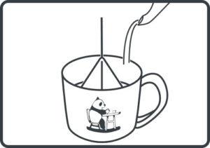 コーヒーバッグ お湯を注ぐ