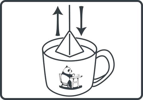 コーヒーバッグ 上下に